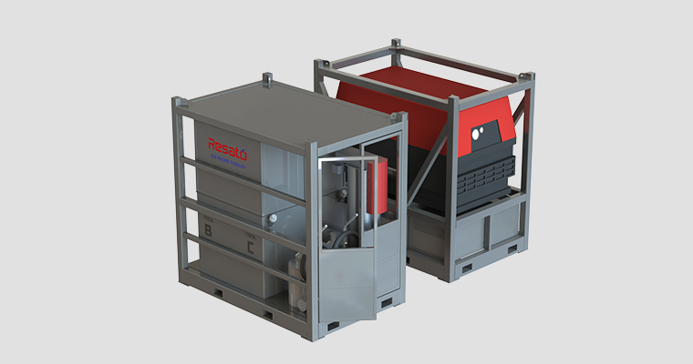 Resato-WIT Skid - Mobile Pressure Testing Unit - Oil & Gas Industry