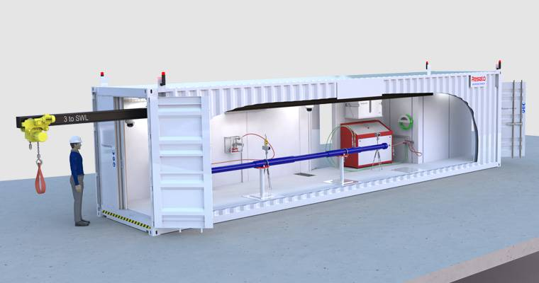 Containerized pressure test bay